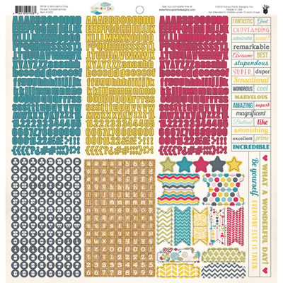 Fancy Pants - What a Wonderful Day - 12x12 Fundamentals Stickers